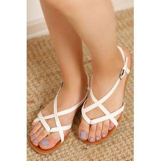 Parmak Arası Çapraz Sandalet Beyaz - 4162.264.