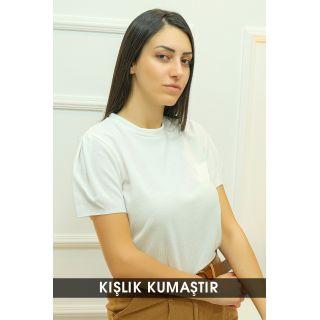 Crop Bluz Kırıkbeyaz - 8068.1230.