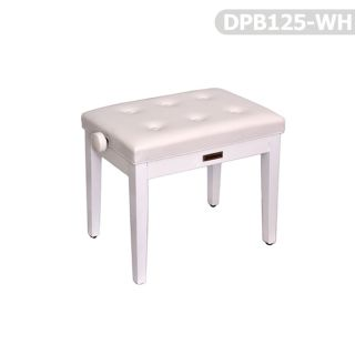 Piyano Aksesuar Koltuk Tabure Dominguez Ayarlı Beyaz DPB125-WH