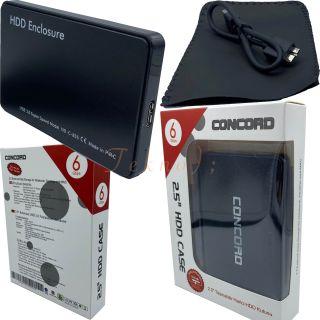 "2.5"" USB 3.0 / 6 Gbps Sata Harddisk Hdd Kutusu Concord C-855"