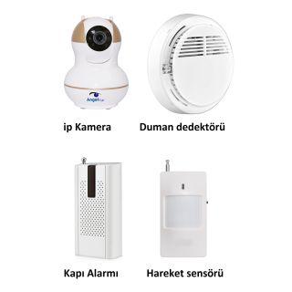 AngelEye KS-511 Full HD Wifi Ev ve Bebek iP Kamera 4in1 Full Set