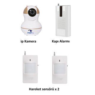 AngelEye KS-512 Full HD Wifi Ev ve Bebek iP Kamera 4in1 Full Set