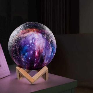 3D Renk Değiştiren Led Işıklı Samanyolu Gece Lambası