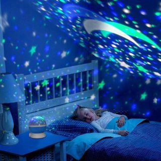 Dönen Star Master Renkli Yıldızlı Gökyüzü Projeksiyo