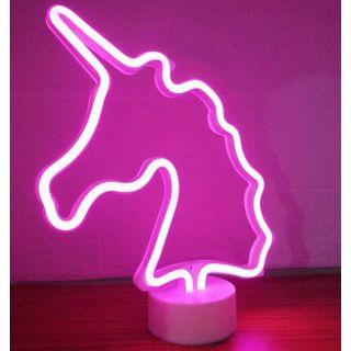 Neon Işıklı Unicorn Masa Gece Lambası
