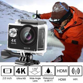 AngelEye KS-504 Authentic H9 4K Ultra HD Wifi 2inç Aksiyon Kamera