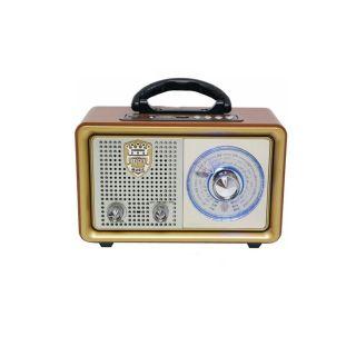 Meier M-110BT Nostaljik Retro Ahşap Bluetooth Fm Radyo