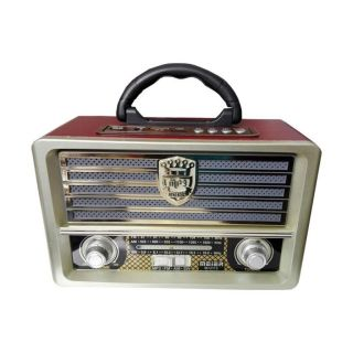 Meier M-113BT Nostaljik Retro Ahşap Bluetooth Fm Radyo