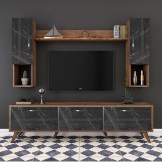 Bar Tv Ünitesi - Ceviz&Mermer