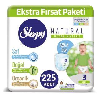 5'li Sleepy Natural Fırsat Paketi Midi (3) 45'li
