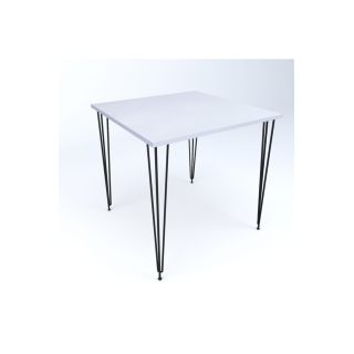 Theia Tasarım Tek Masa Beyaz 70x70cm