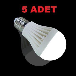 7W Enerji Tasarruflu Led Ampul ( 5 Adet )