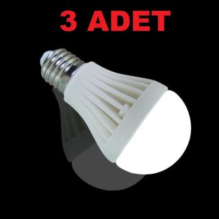 7W Enerji Tasarruflu Led Ampul ( 3 Adet )