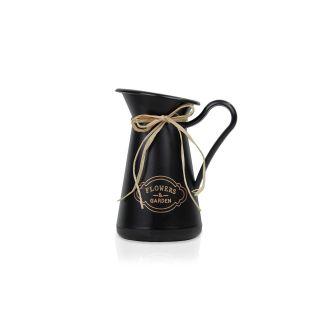 İtalyan vazo saksı – Masa Boyu Saksı Siyah