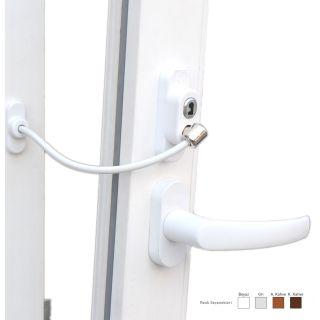 Anahtarlı Halatlı Pvc Kapı Pencere Emniyet Kilidi