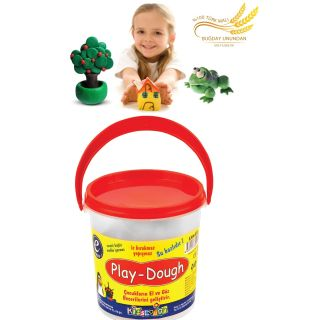6 Renkli Buğday Unu Oyun Hamuru Kova - Play Dough